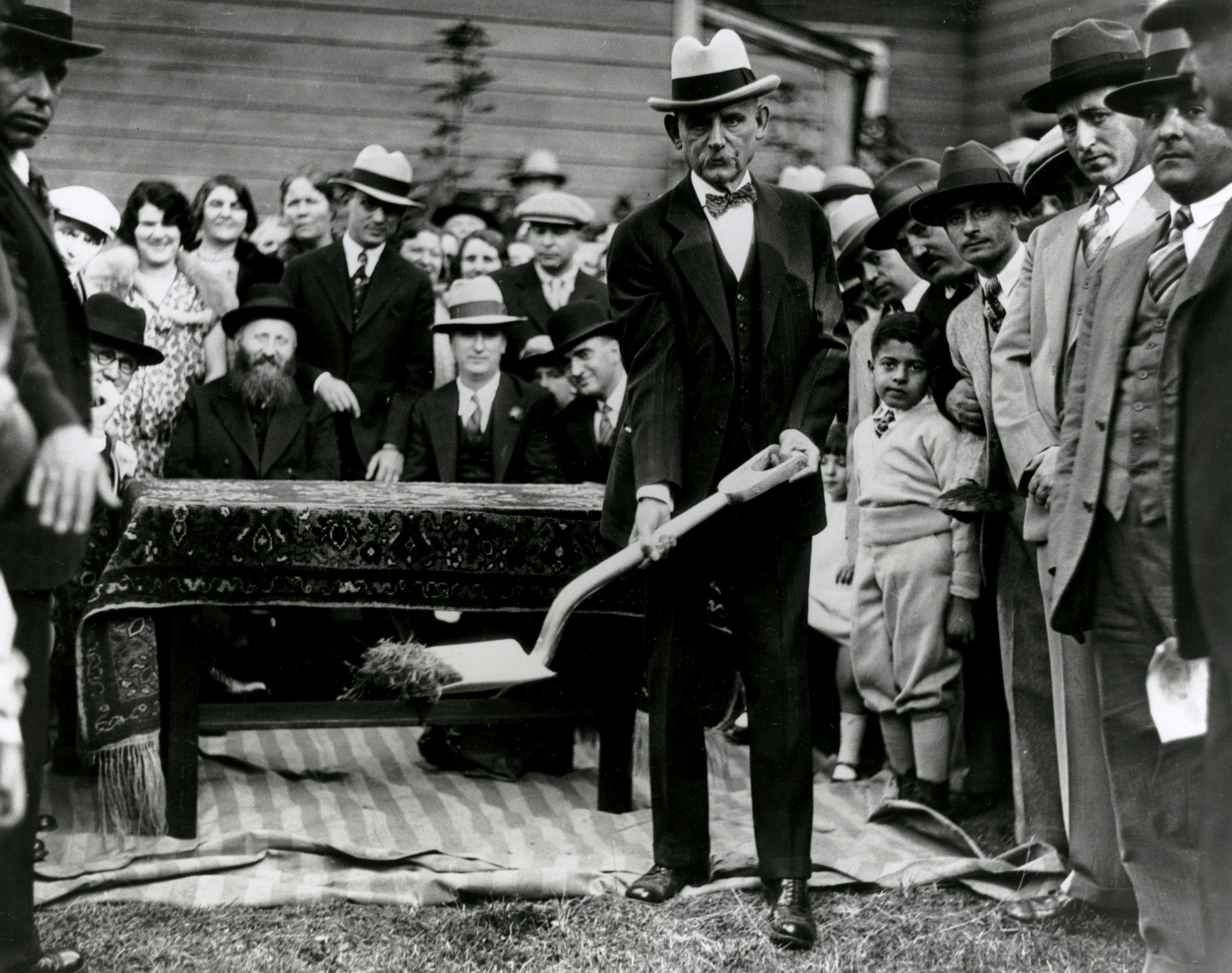 Ben Selling at the groundbreaking for Neighborhood House, c.1913