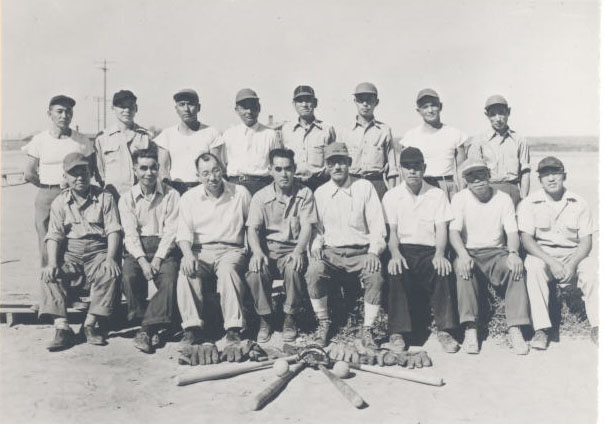 Block 34 baseball team, Minidoka, 1943