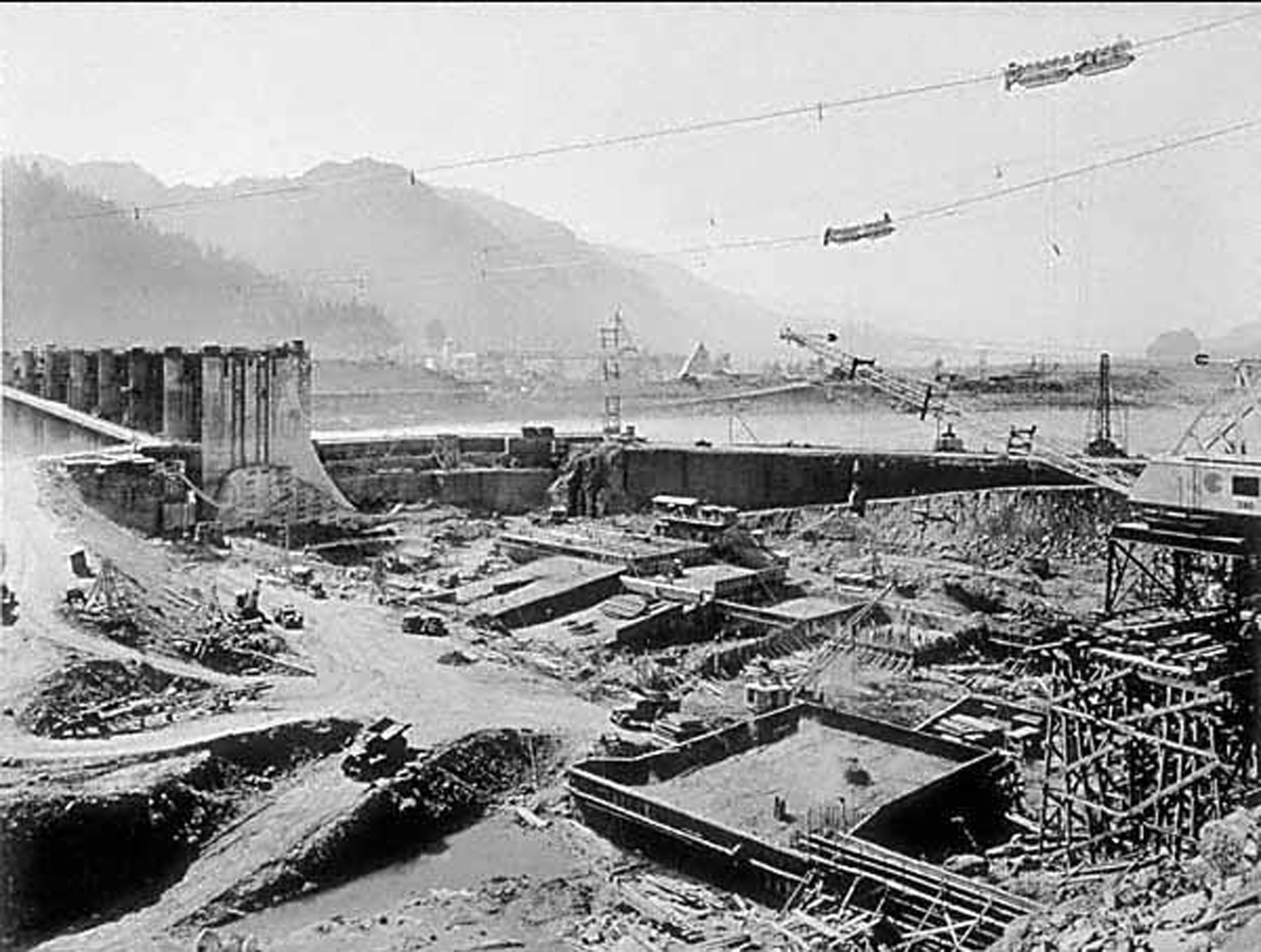 Bonneville dam for Construction bonneville