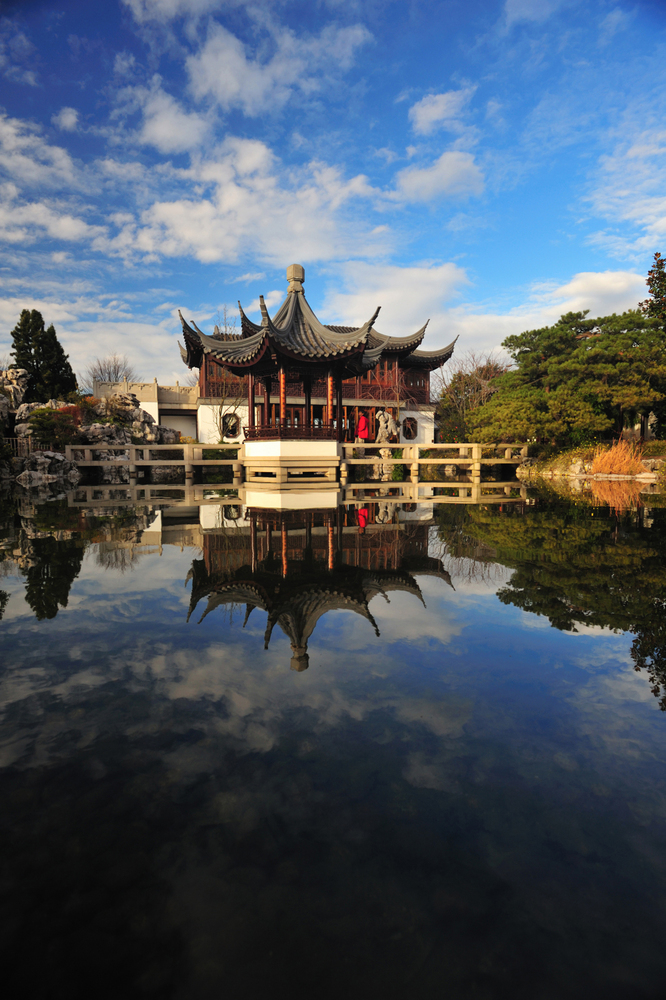 Teahouse at Portland Chinese Classical Garden