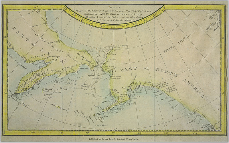 Chart of the NW Coast of America and NE Coast of Asia explored in the Years 1778 & 1779