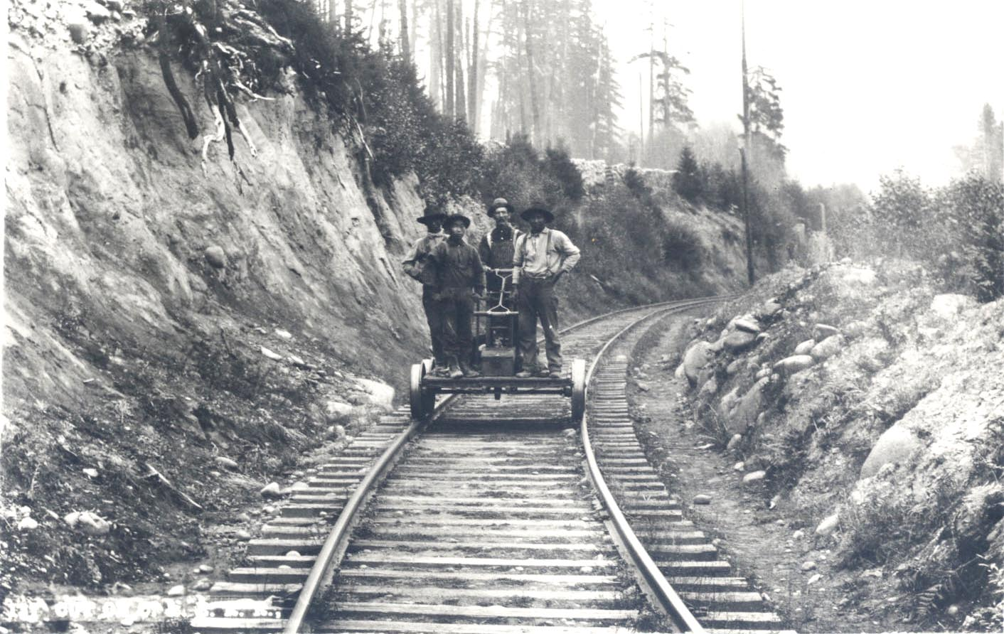 Workers on the Oregon Pacific Railroad