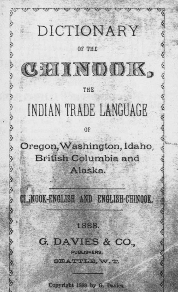 Chinook Jargon dictionary, 1888, title page