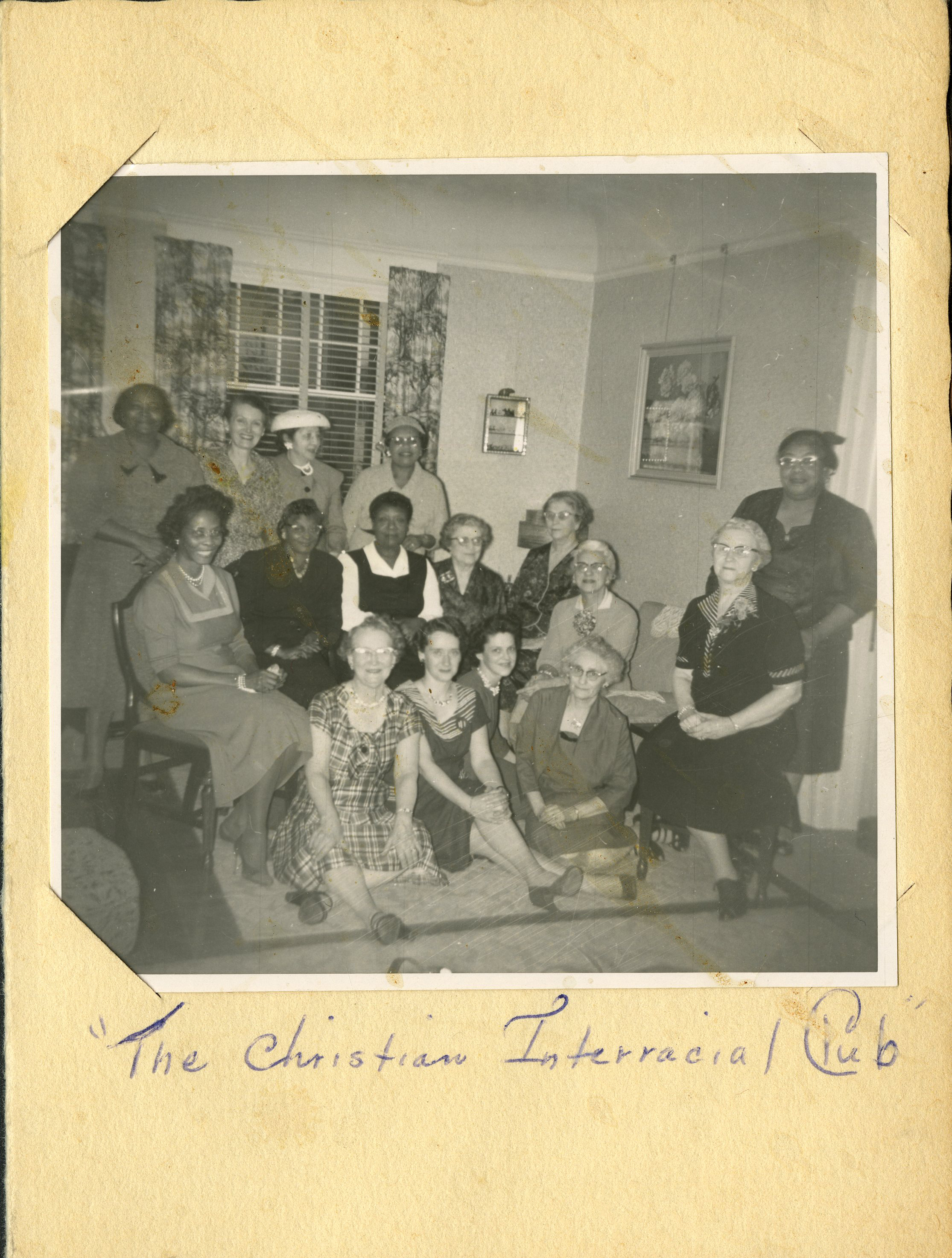 Members of the Vancouver Ave. First Baptist take part in the Christian Interracial Club in Portland, 1962.