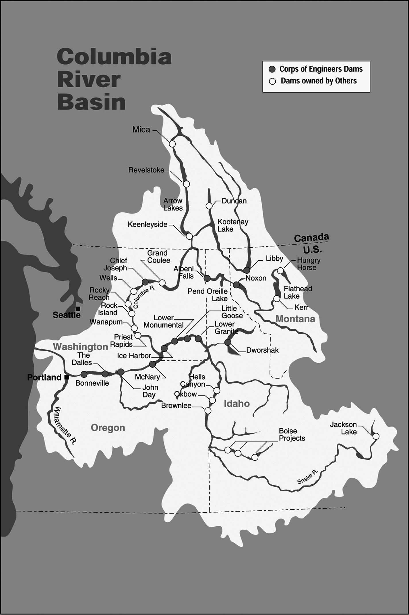 columbia river length