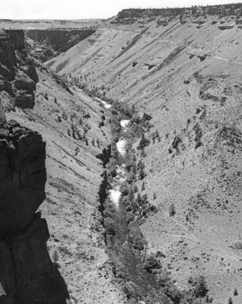 Crooked River canyon, 1940