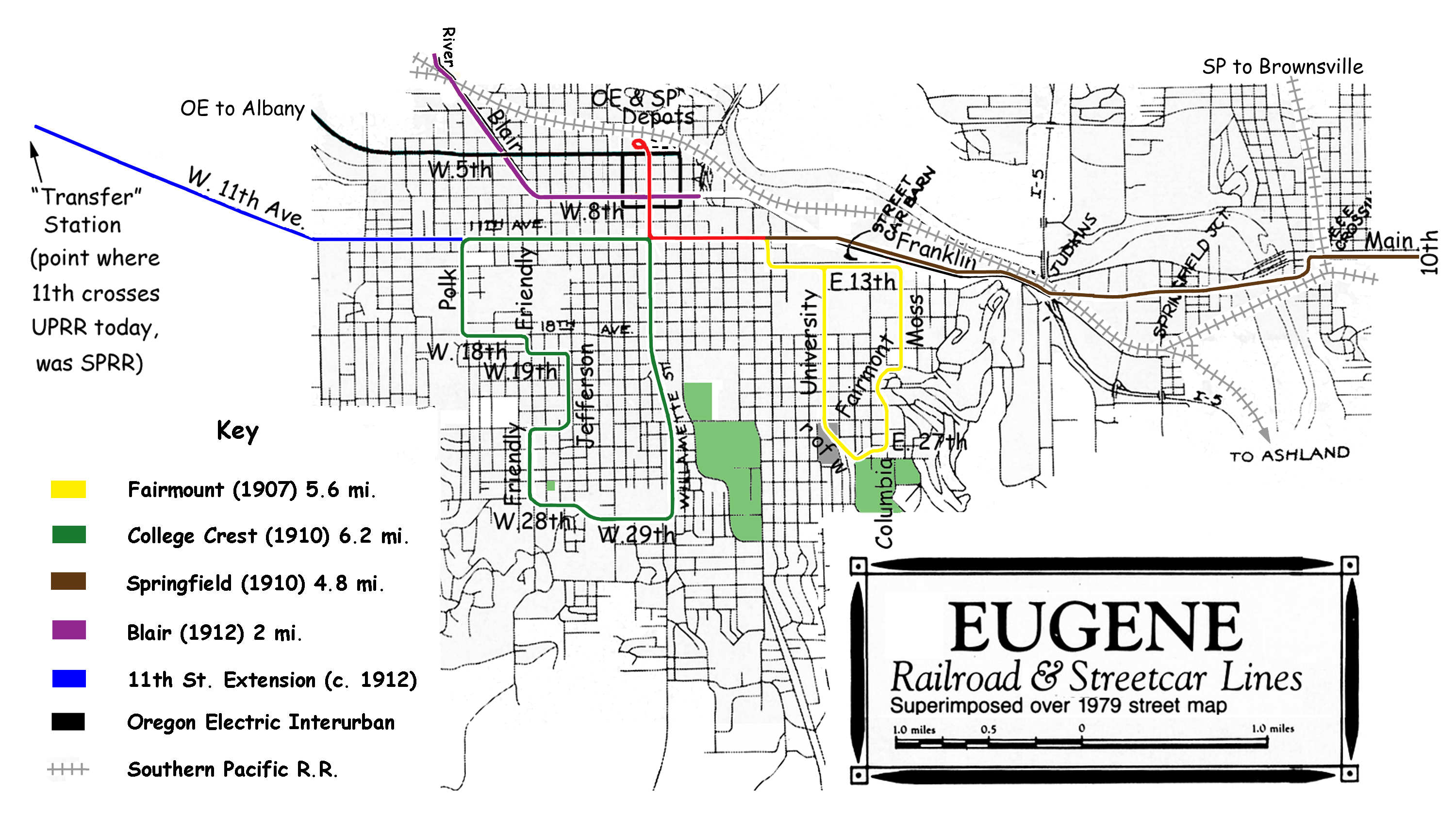 Are there any remnants of Eugene streetcar tracks Eugene