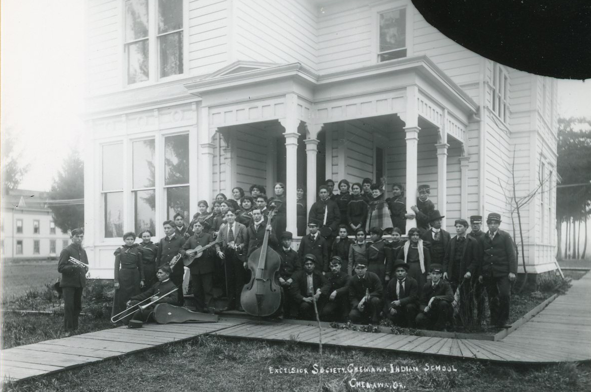 Excelsior Society, Chemawa, 1887. Courtesy Oregon Hist. Soc. Research Lib., 0173G014.