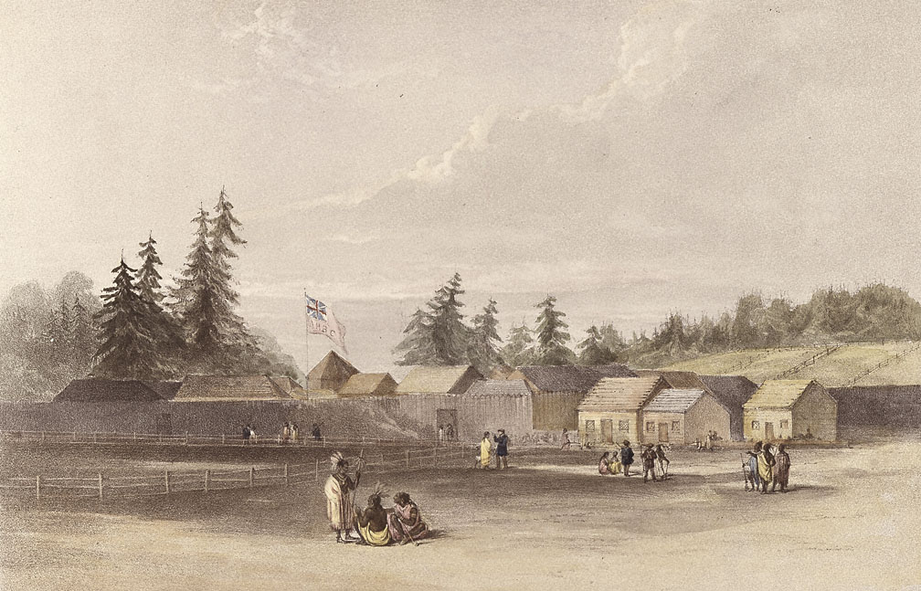 Sketch of Fort Vancouver by H.J. Warre, c. 1845
