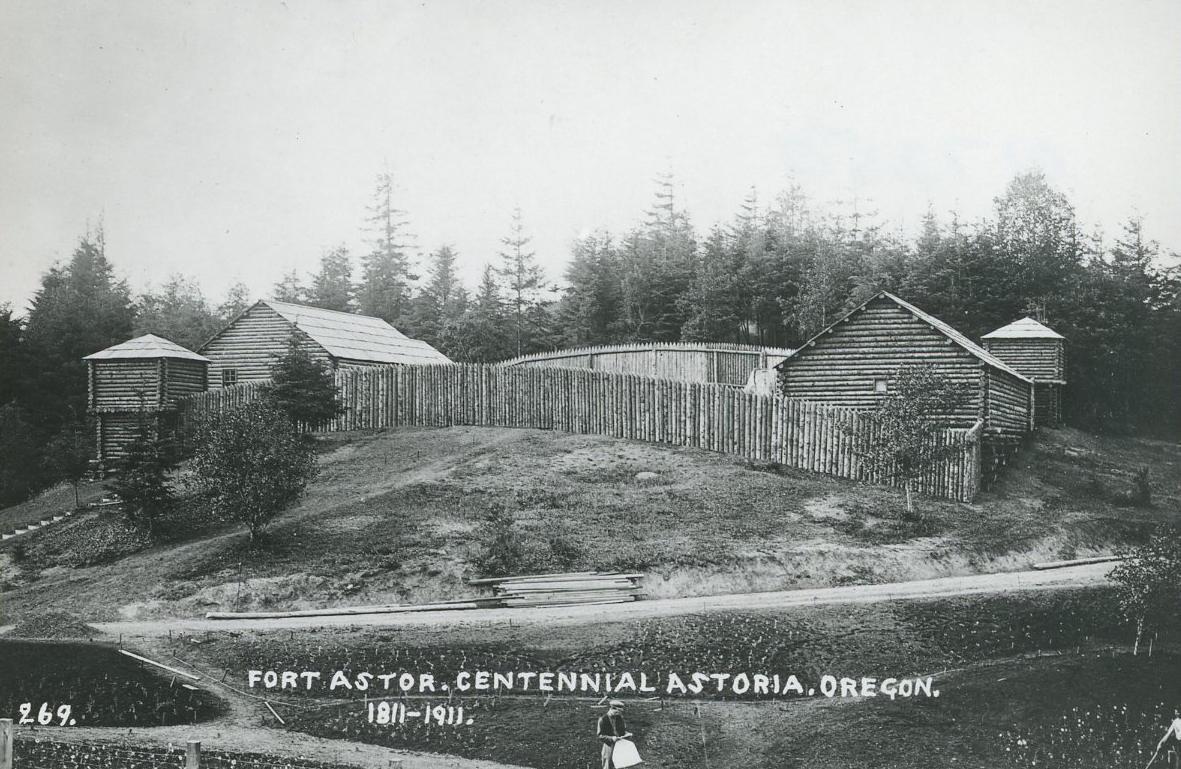 Who founded the fur-trading post in astoria oregon