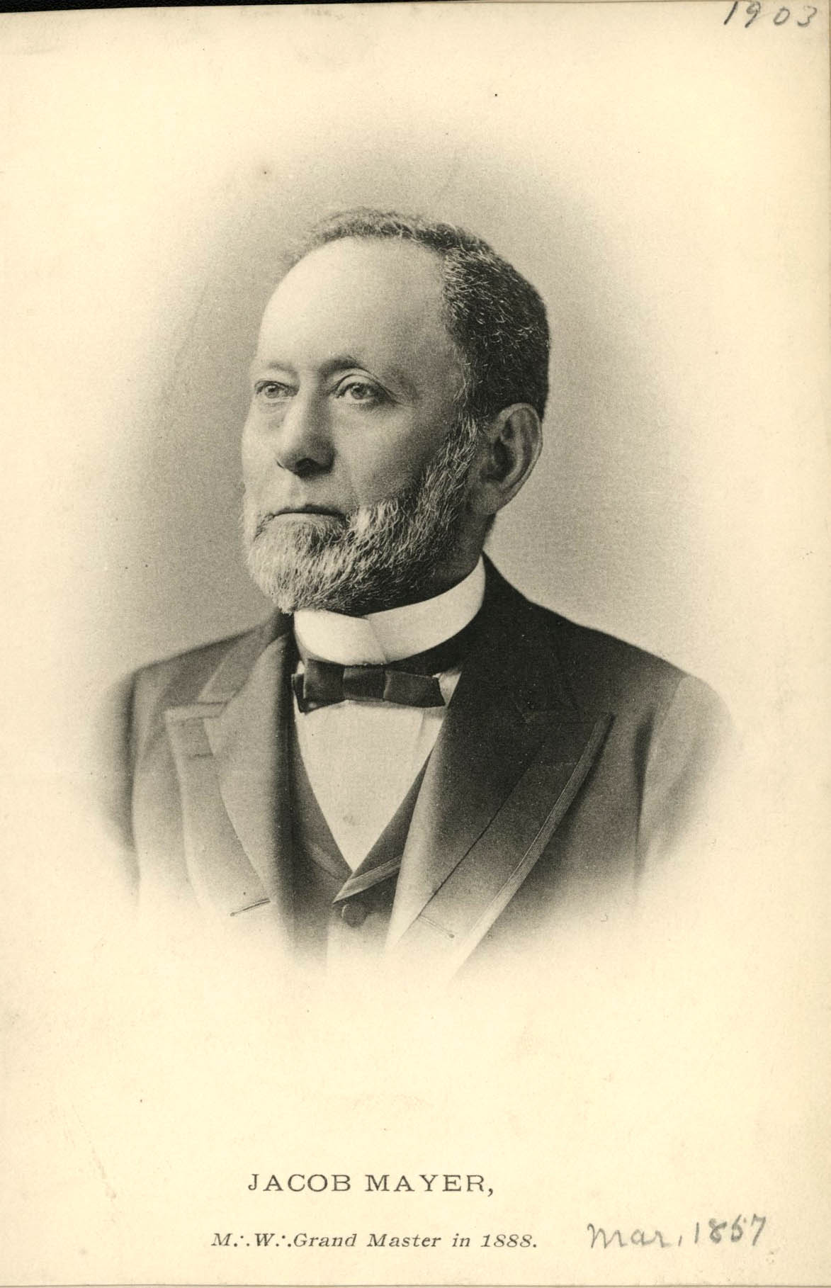 Jacob Mayer, co-founder of Fleischner, Mayer, & Co.