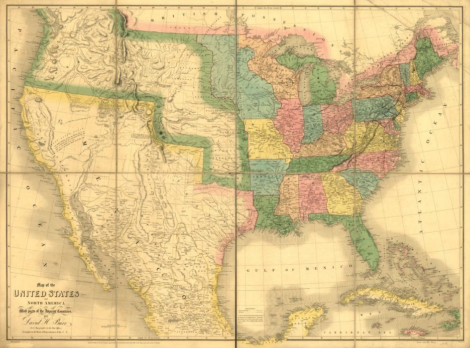 Map Of The Us In 1800.Cartography Of Oregon 1507 1848