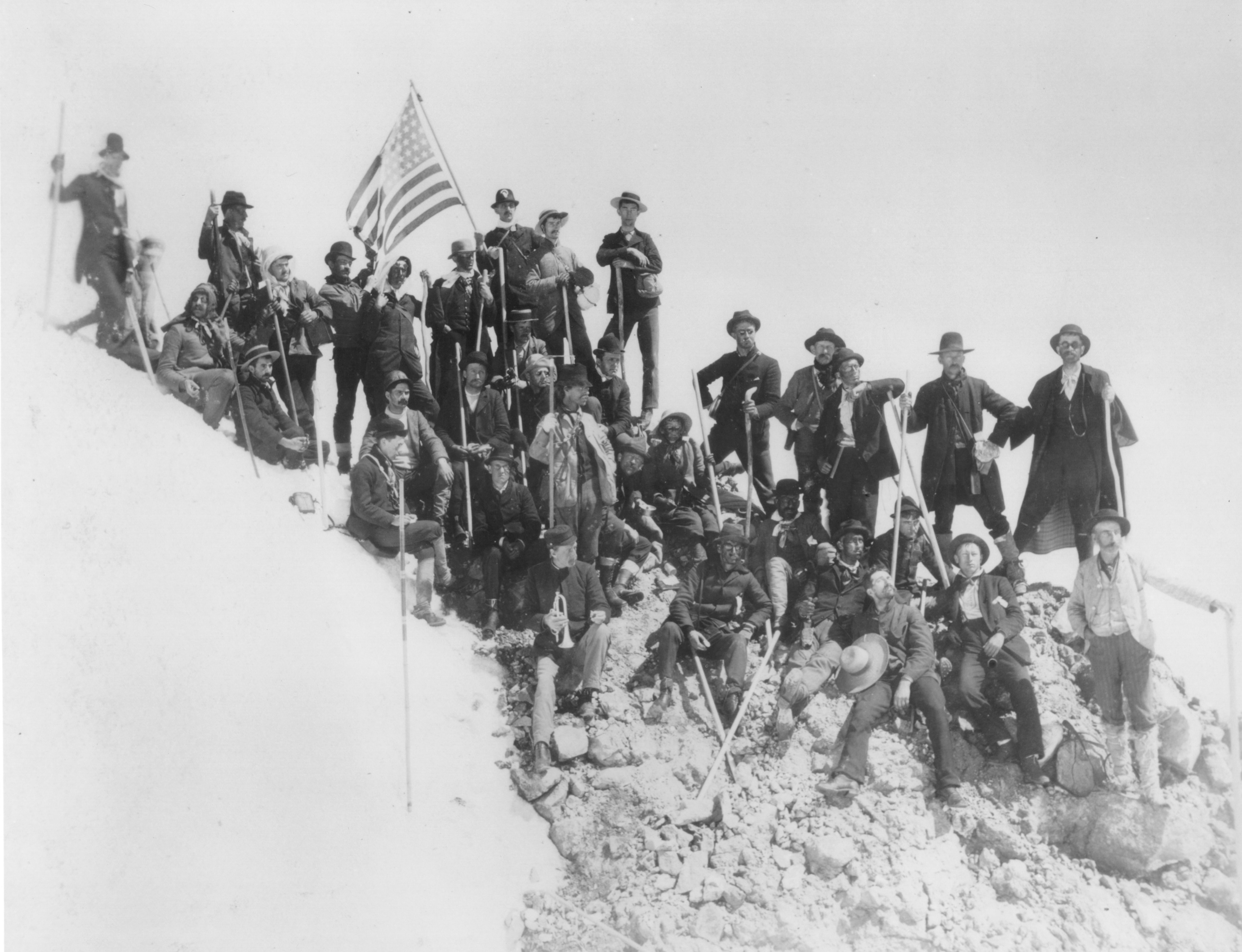 Mazamas reach the summit, 1894