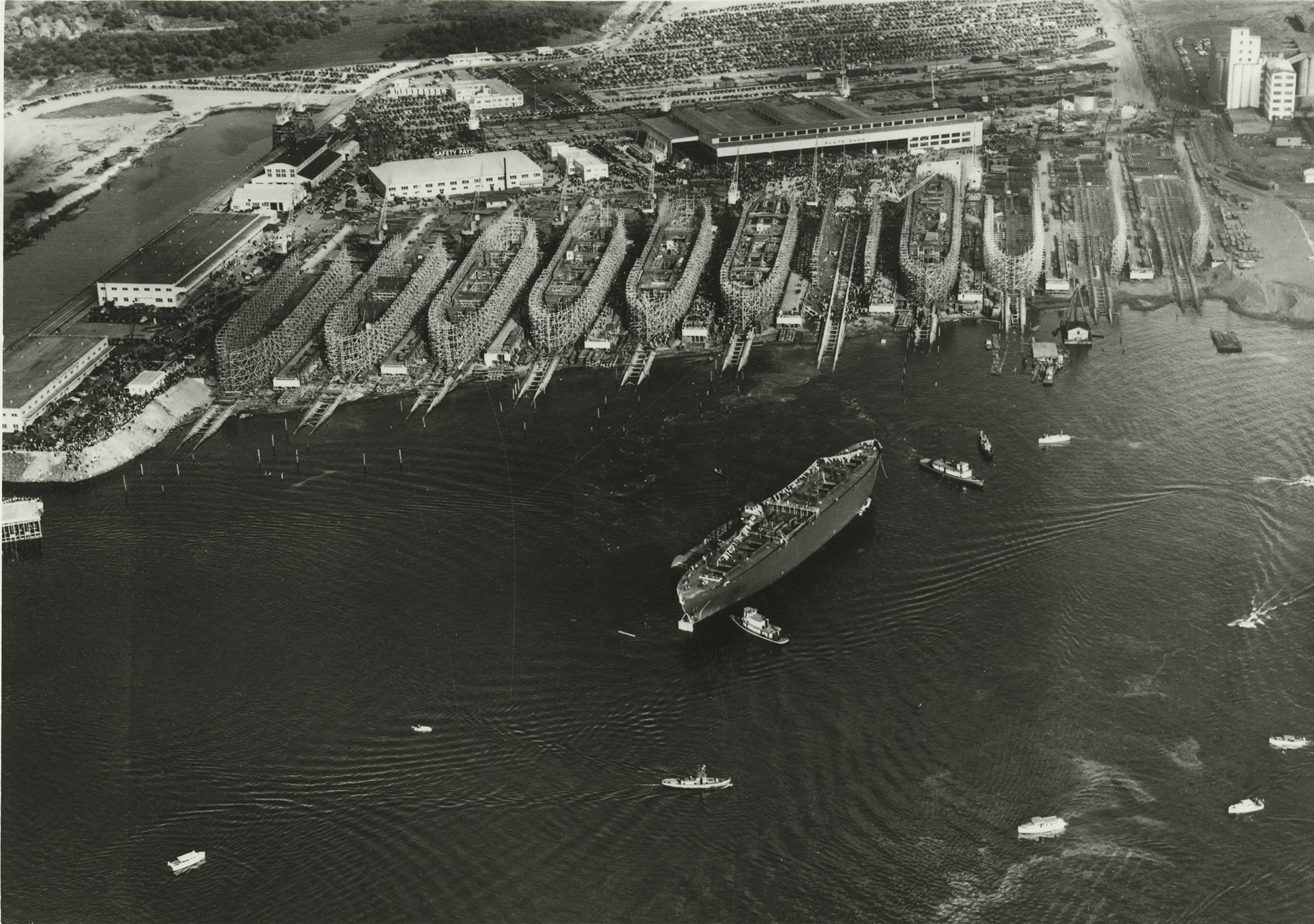 Aerial of Oregon Shipbuilding Corp.