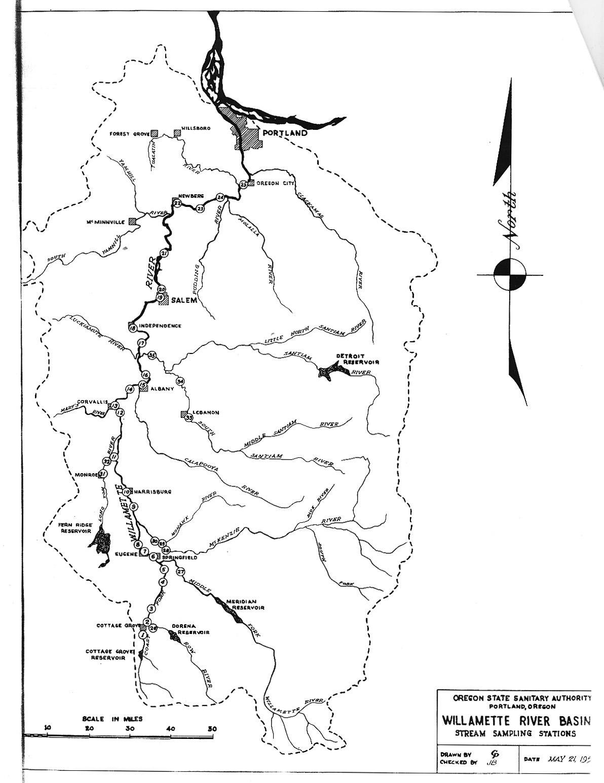 Willamette River - Willamette river on map of us