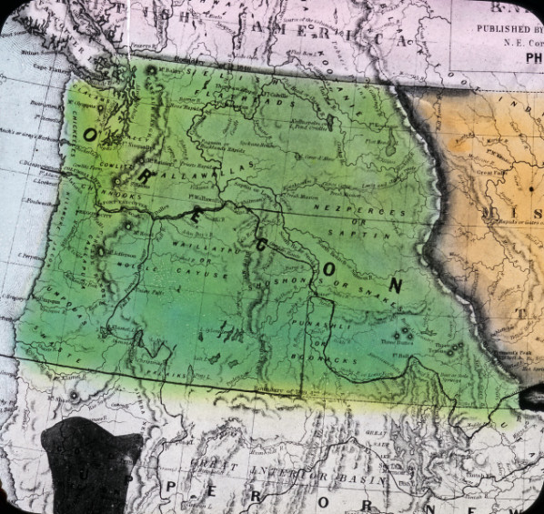 Oregon Territory, map of, 1848