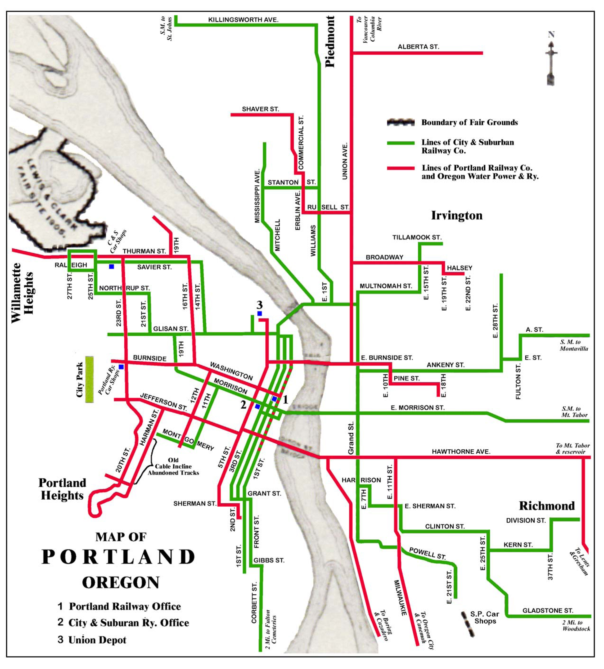 Trams San Francisco Map.Portland Streetcar System