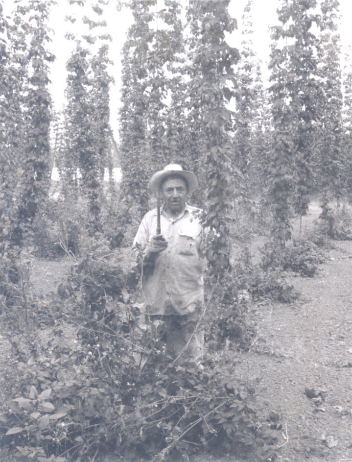 Ray Chavez on a Willamette Valley field