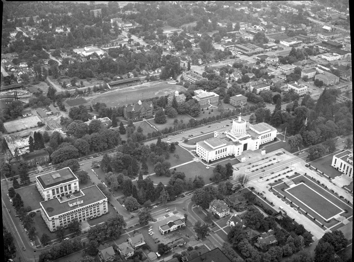 Capitol Mall area from the air, c.1940