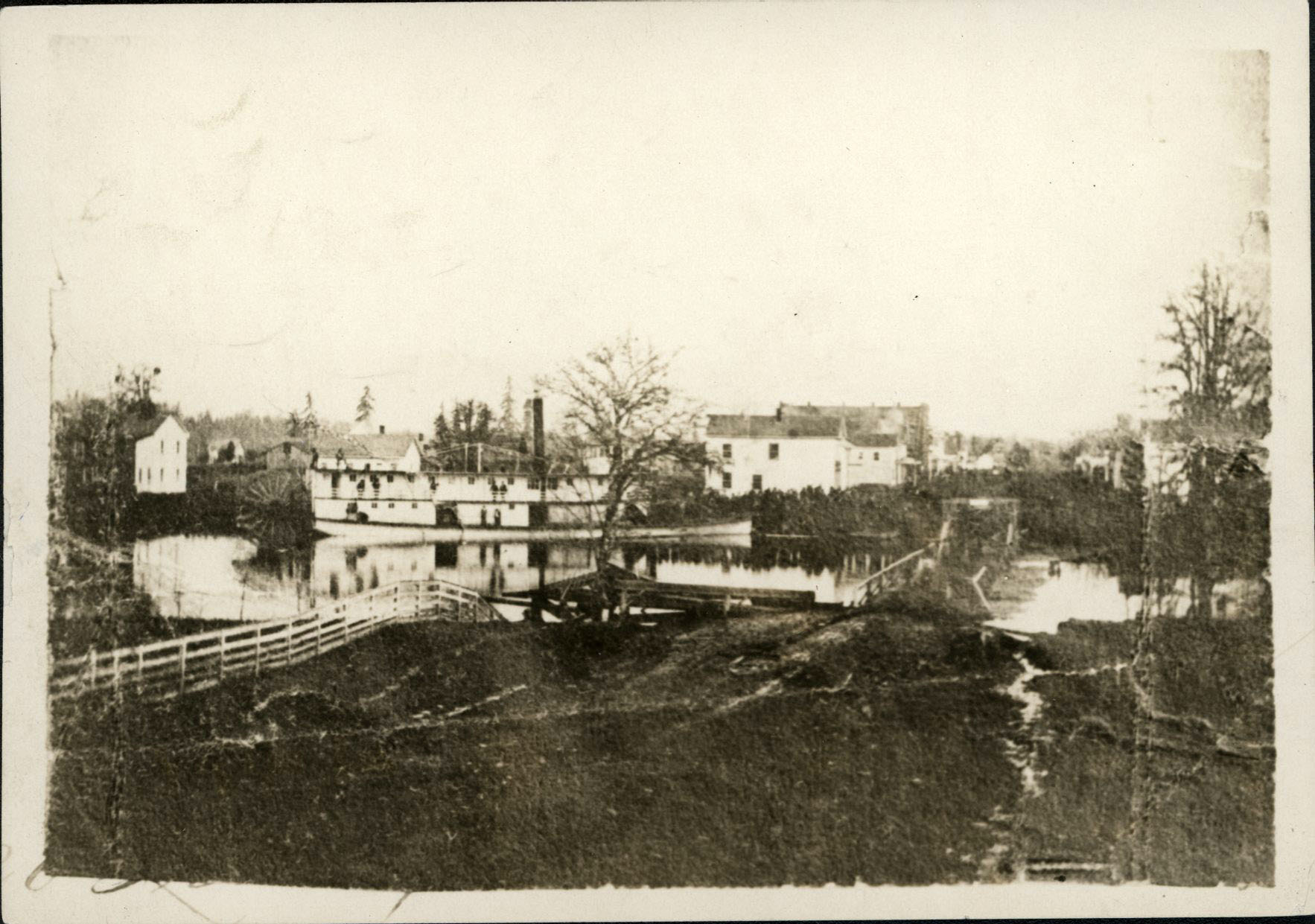 Commercial Street, during the 1862 flood, Salem