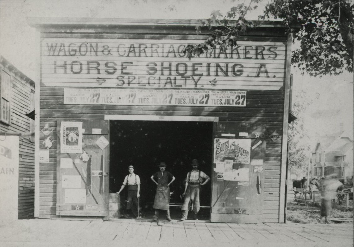 Sprague and Cronk, carriage makers and blacksmith shop, 320 Commercial St., Salem