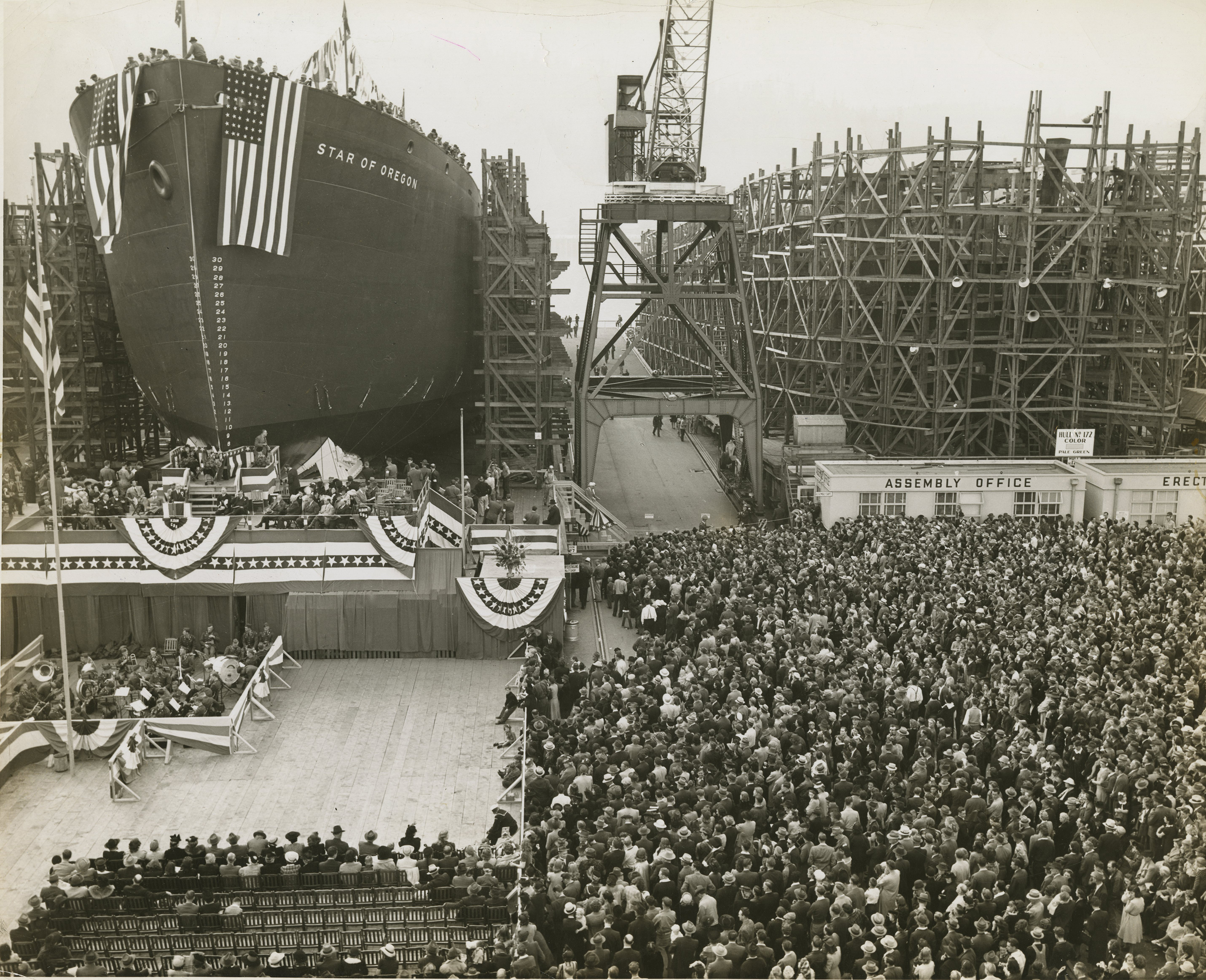 Launching of the Star of Oregon, Sept. 27, 1941