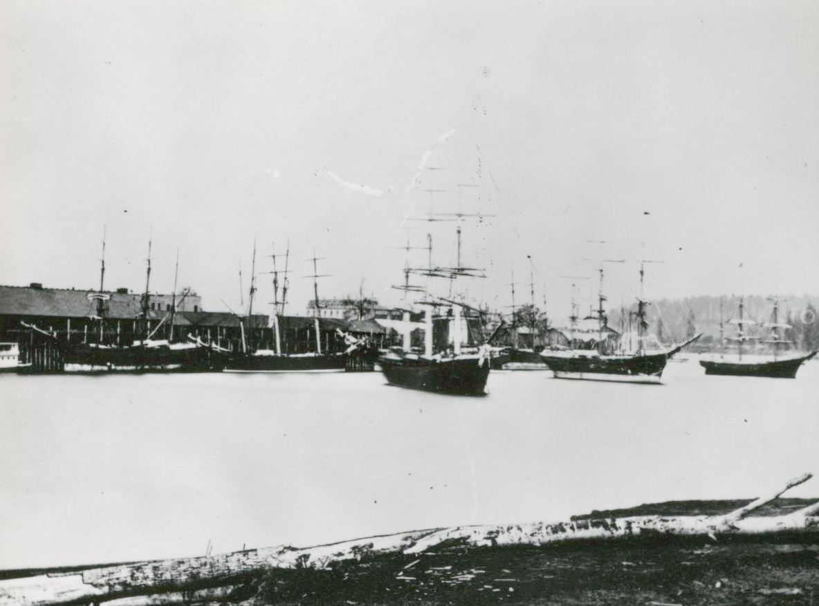 """Wheat Fleet"" on the Willamette, 1899"