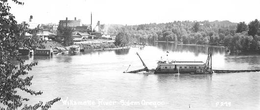 Willamette R., dredge on, near Salem