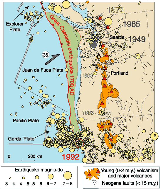 Earthquakes and Tsunamis in the Cascadia Subduction Zone on