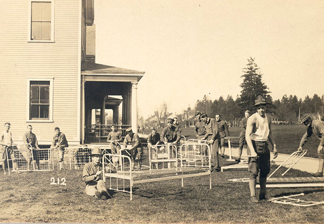 Soldiers at Vancouver Barracks, c 1915