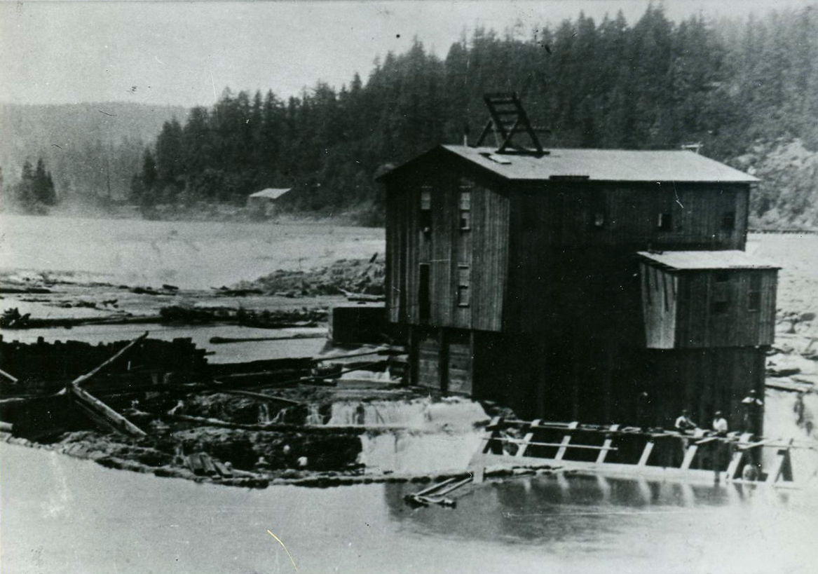 Early electric power facility on Willamette Falls, c. 1890