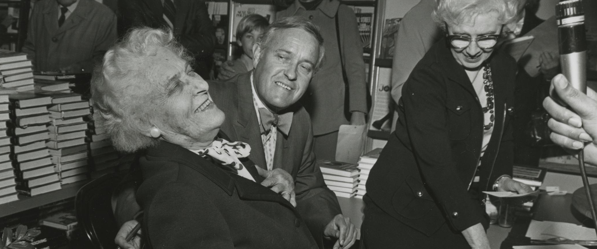 Dorothy McCall with Tom at a book signing