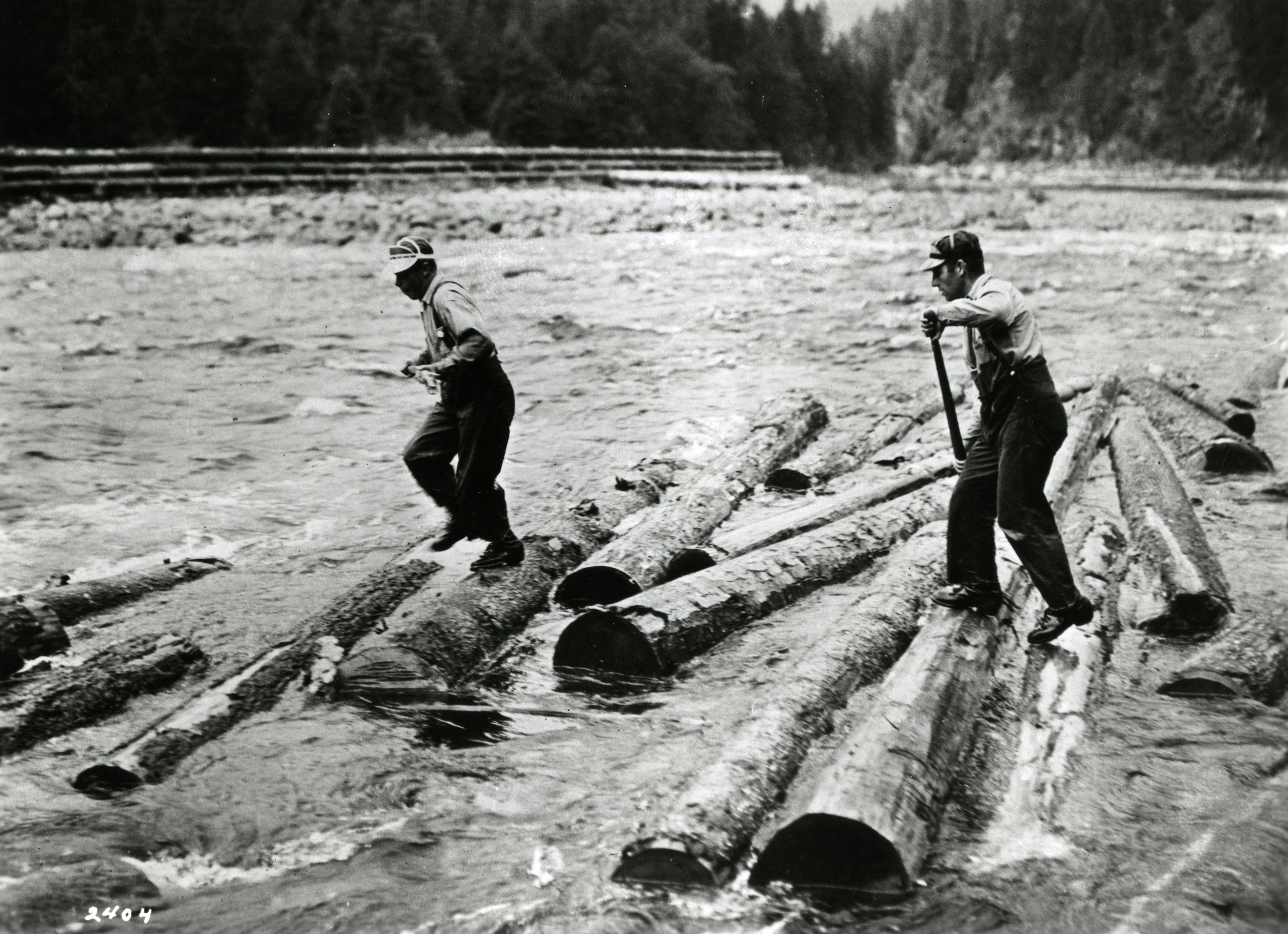 Floating logs, Pacific Northwest