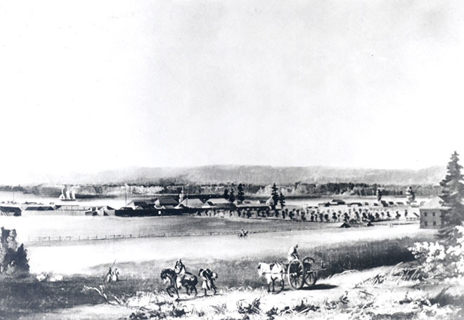 Early sketch of Fort Vancouver