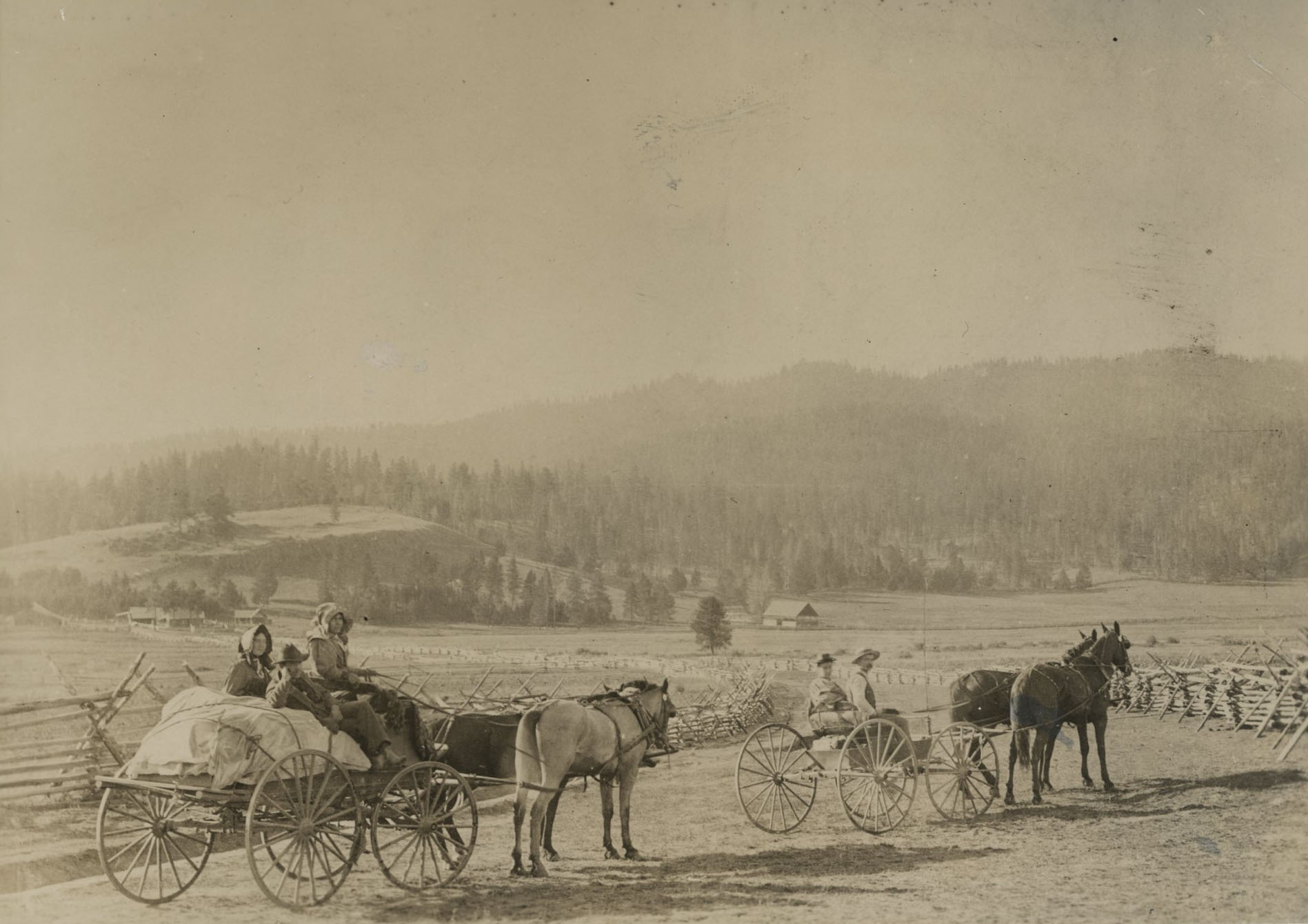 Travelers en route to Granite and the gold mines, 1896