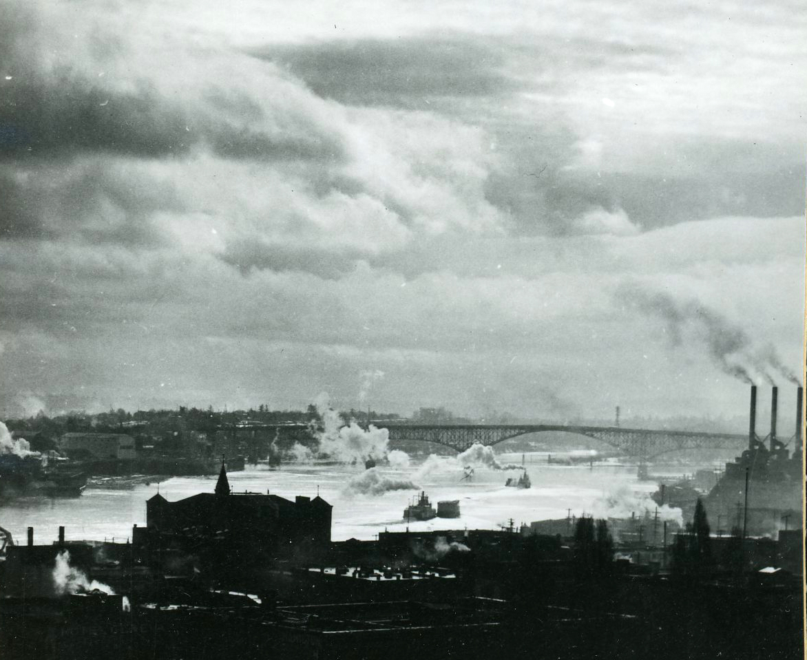 Industry on the Willamette, Portland, 1937