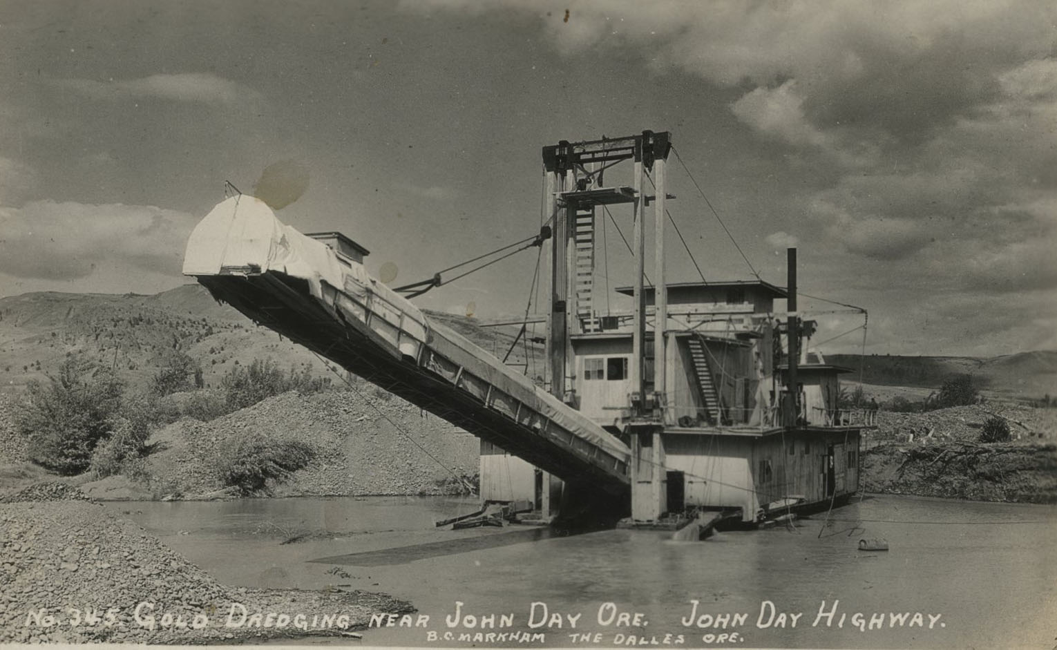 John Day gold dredge