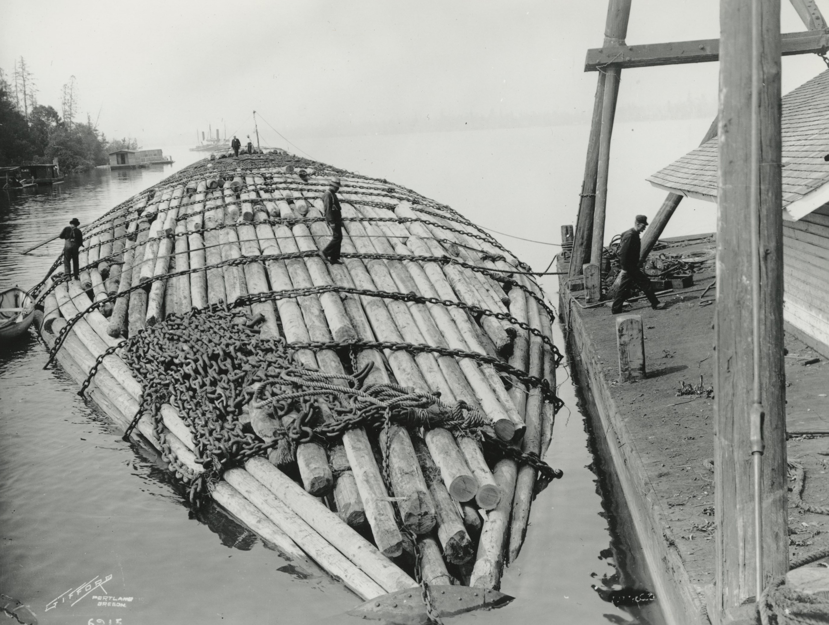 Log raft from Oregon to San Diego