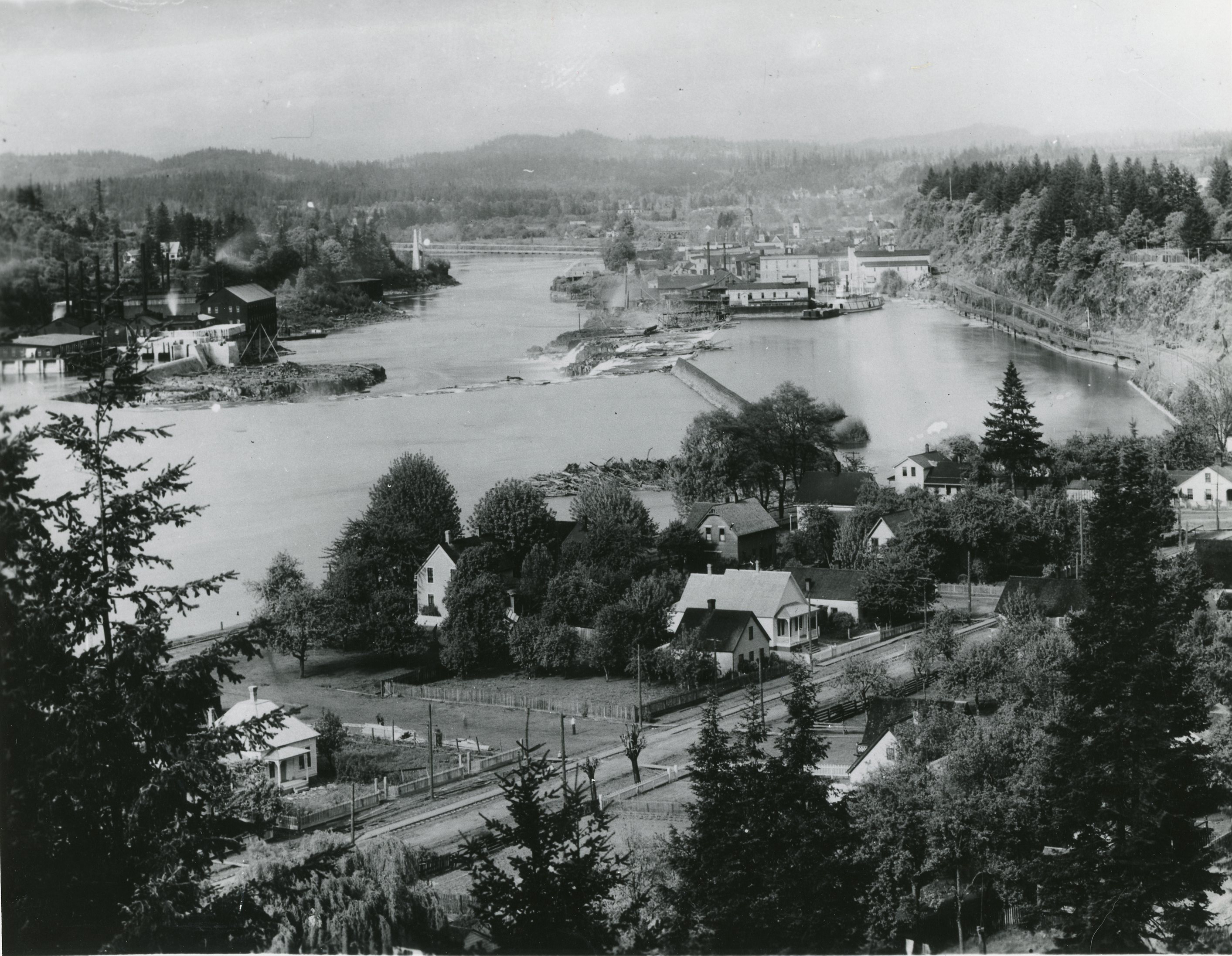 Willamette Falls and Canemah, c. 1900