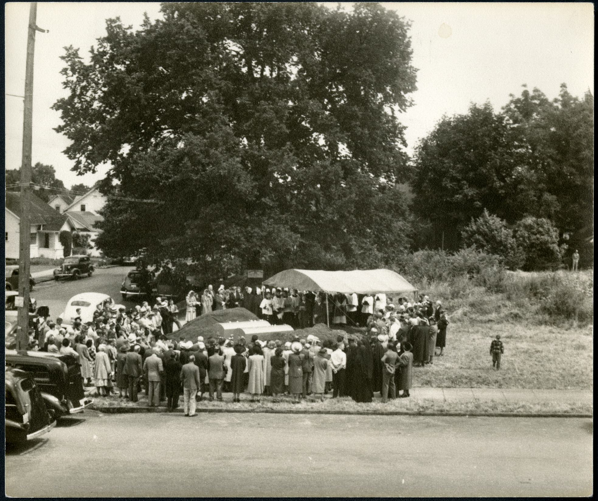 Reburial ceremony, 1948