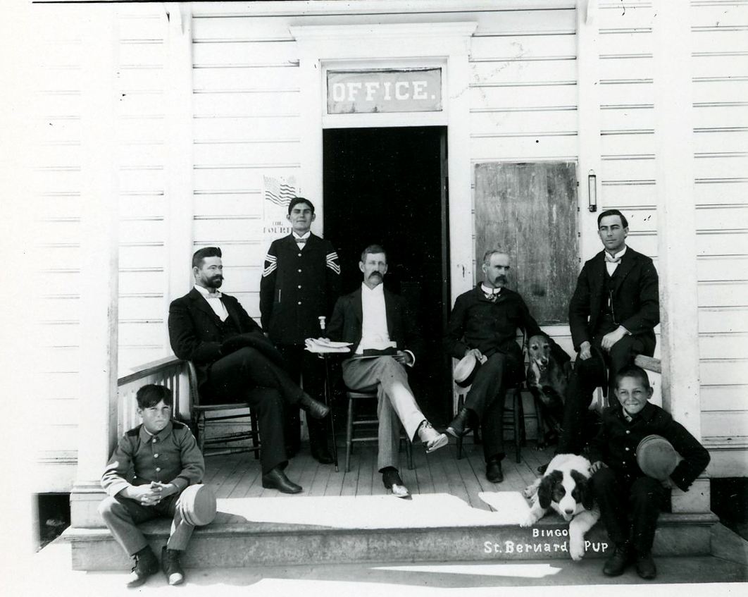 School officials and students at Chemawa, 1887. Courtesy Oregon Hist. Soc. Research Lib., 0182G007.