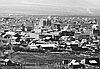 Baker City with Chinatown to lower right, about 1890.