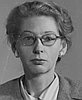 Mary Barnard passport photo, 1949