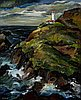 """Heceta Lighthouse, Oregon Coast"" by Constance Fowler, about 1938."
