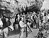 Luther Cressman speaking at Dedication of Fort Rock Cave historical landmark, June 1963.