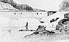 Indians Fish at Willamette Falls, 1841.