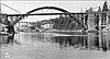 Oregon City, bridge under construction, 1922, OrHi 094328