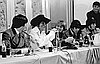 Paul Revere and the Raiders at a press conference in Seattle, 1967 (Dave Potts, photographer).