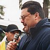 Ramon Ramirez (PCUN) addresses marchers in 2004