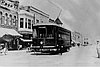 Southern Oregon Traction Company Birney car No. 1, East Main Line run through downtown Medford, about 1915.